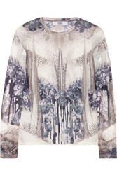 Prabal Gurung Printed Jersey Top Blue