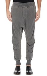 Haider Ackermann Appliqued French Terry Sweatpants Grey