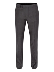 Limehaus Graphite Twill Formal Suit Trousers Grey