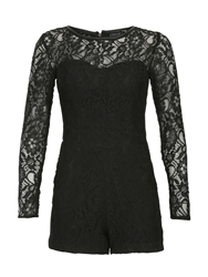 Chase 7 Fitted Floral Lace Jumpsuit Black