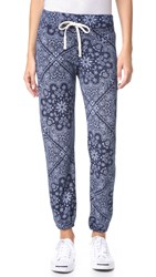 Sundry Bandana Pattern Sweatpants Navy