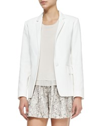 Rag And Bone Sidney Long Crepe Blazer White