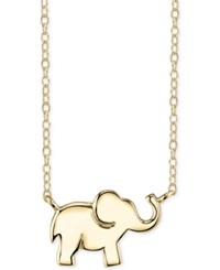Unwritten Elephant Pendant Necklace In 14K Gold Plated Sterling Silver