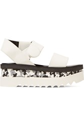 Stella Mccartney Rubber Wedge Sandals White