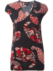 Giambattista Valli Paisley Print Knit Top Black