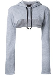 Assin Cropped Hoodie Grey