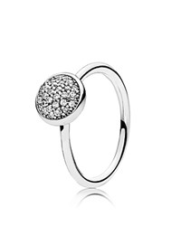 Pandora Design Ring Sterling Silver And Cubic Zirconia Dazzling Droplet