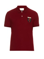 Gucci Logo Embroidered Polo Shirt