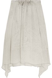 Raquel Allegra Printed Silk Georgette Skirt