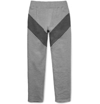 Givenchy Slim Fit Panelled Loopback Cotton Jersey Sweatpants Gray