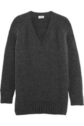 Prada Oversized Angora Blend Sweater Charcoal