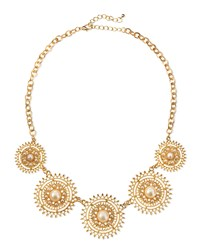 Jules Smith Designs Jules Smith Solar Pearly Golden Necklace Women's