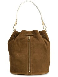 Elizabeth And James Drawstring Satchel Brown