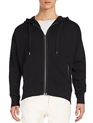 Cult Of Individuality Zip Front Hoodie Black