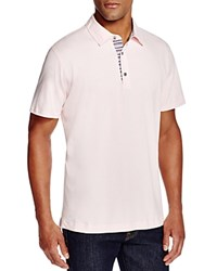 Robert Graham Stoked Stripe Placket Slim Fit Polo Shirt 100 Bloomingdale's Exclusive Light Pink