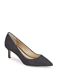 Saks Fifth Avenue Gracie Denim Pumps Black