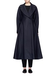 The Row 'Laug' Flare Wool Blend Coat Blue