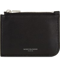 Wooyoungmi Leather Coin Wallet Black Silver