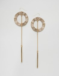 Aldo Eraowia Through And Through Earrings Gold