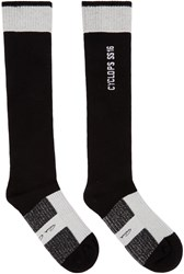 Rick Owens Black And Off White Cyclops Socks