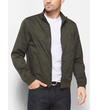 Camouflage Cotton Sateen Bomber Jacket