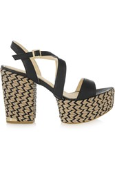 Paloma Barcelo Leather Sandals Black