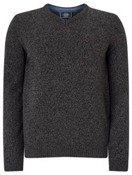 John Lewis Made In Italy Merino Cashmere V Neck Jumper Charcoal