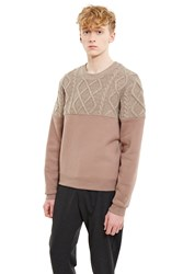 Opening Ceremony Cable Knit Sweatshirt Natural Tan