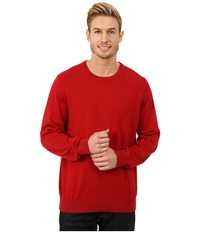 Nautica Solid Crew Neck Sweater Ribbon Red Men's Sweater
