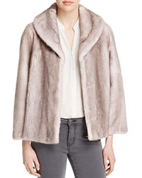 Maximilian Furs Shawl Collar Mink Jacket Ice