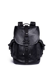 Givenchy 'Obsedia' Star And Trident Embossed Leather Backpack Black