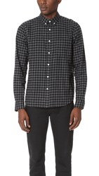 Steven Alan Classic Collegiate Shirt Charcoal Gingham
