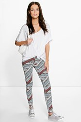 Darcey Tonal Tribal Print Leggings