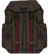 Gucci Techno Canvas Backpack Khaki