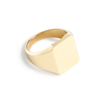J.Crew 14K Gold Square Signet Ring