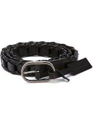 Saint Laurent Braided Belt Black