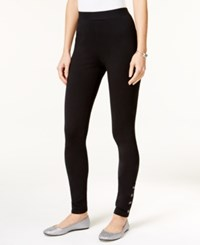 Styleandco. Style Co. Studded Skinny Leggings Only At Macy's Deep Black