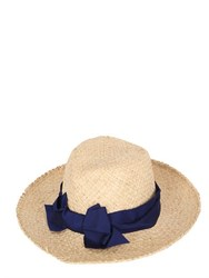 Patrizia Fabri Straw Hat With Grosgrain Bow