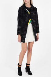 Paul And Joe Wool Tweed Coat Black