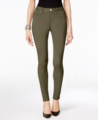 Inc International Concepts Curvy Fit Skinny Pants Only At Macy's Olive Drab