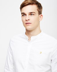 Farah Brewer Slim Long Sleeve Shirt White