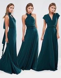 Coast Corwin Multiway Maxi Dress Forest Green Blue