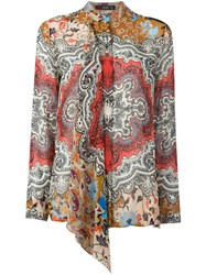 Etro Paisley Print Shirt Brown