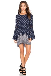 Band Of Gypsies Printed Mini Dress Navy