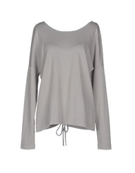 Original Vintage Style Topwear T Shirts Women Light Grey