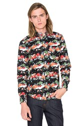 Naked And Famous Regular Shirt Japanese Festival Black
