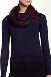 David And Young Sequin Ombre Weave Multi Loop Scarf Red