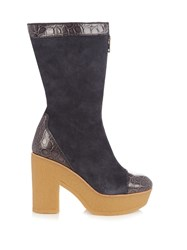 See By Chloe Lytton Suede Ankle Boots Navy