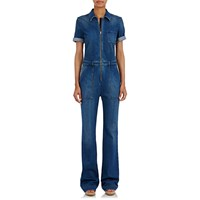 Stella Mccartney Denim Wide Leg Jumpsuit Blue