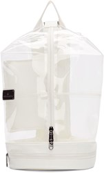 Adidas By Stella Mccartney White And Transparent Vinyl Sportsbag 5 Backpack